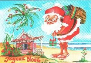 Père Noël sous les tropiques